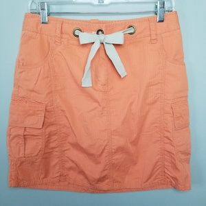 NEW NWT Orange Cargo Utility Skirt 6 Womens Summer